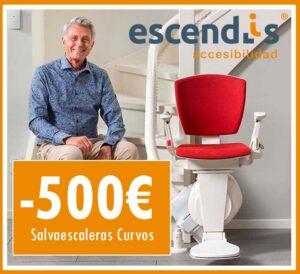 descuento de 500 euros en silla salvaescaleras